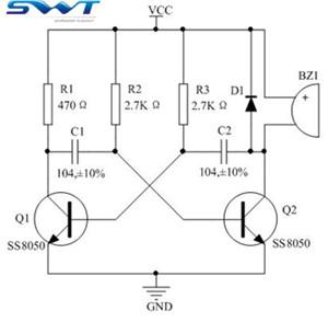 关于无源蜂鸣器驱动电路改进